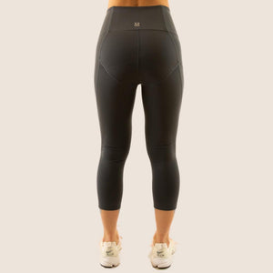 Charcoal Grey Flow 2 Freedom Exhale Cropped Period Proof Legging back view