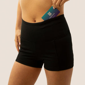 Black Flow 2 Freedom Exhale period proof shorts front pocket
