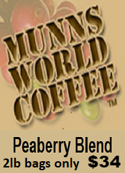 Munn's World Coffee Peaberry Blend