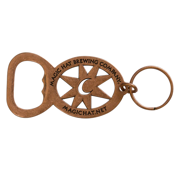 Key Ring VERMONT Keychain MAGIC HAT BREWING COMPANY metal Beer Bottle OPENER