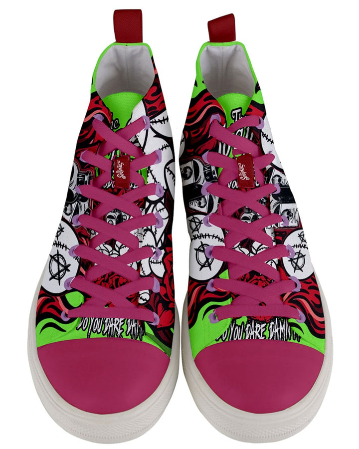Voodoo Men's Mid-Top Canvas Sneakers - The SoapGirls