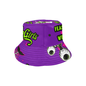 Ladies Purple  Bucket Hat - The SoapGirls