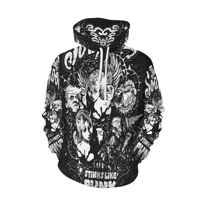 Hoodie All over print - Stinks like punk - The SoapGirls