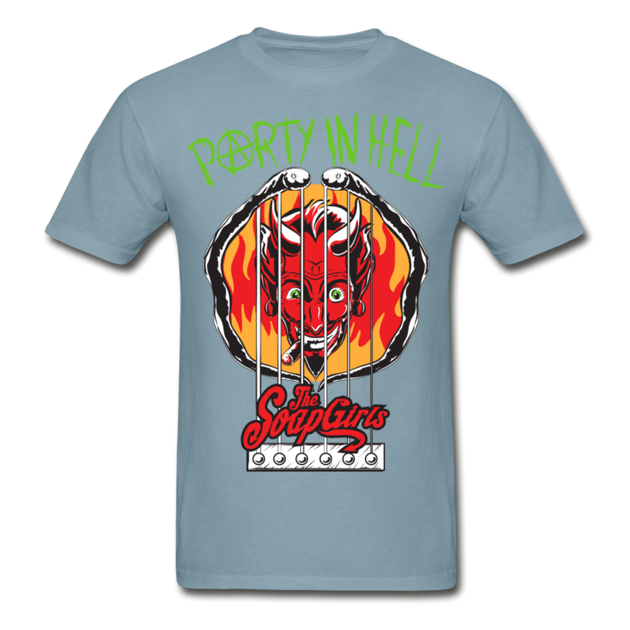 PARTY IN HELL - Mens tagless Tee - The SoapGirls