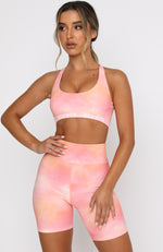 Kelly Sports Bra Pink Sunset