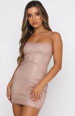 High Maintenance Mini Dress Rose Gold