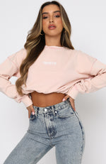 Power Status Cropped Sweater Pink Acid
