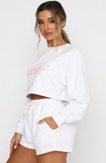 Skipper Cropped Sweater White
