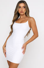 You'll Be Back Mini Dress White
