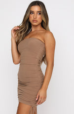 Feel Good Mini Dress Tan