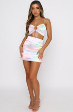 Cali Girl Mini Skirt Rainbow Tie Dye