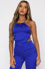 Dance Till Dawn Top Electric Blue