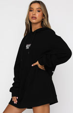 Forever In Style Hoodie Dress Black