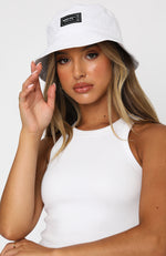 Open Road Bucket Hat White