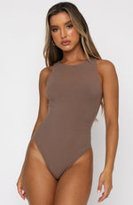 Playing To Win Bodysuit Mocha