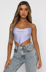 Party All Night Crop Lilac