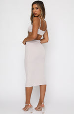 Level Headed Midi Dress Oatmeal