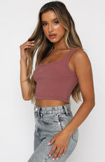 Power Woman Crop Plum