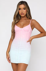Another Night Mini Dress Pastel Ombre