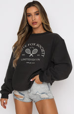 City Escape Oversized Sweater Charcoal