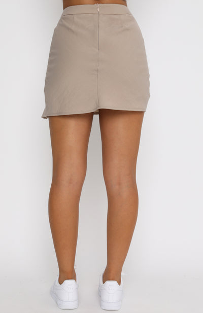 Suits You Mini Skirt Beige