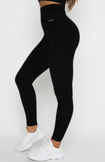 Seamless High Waisted Leggings Black