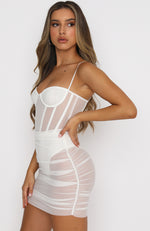 Model Behaviour Mini Dress White
