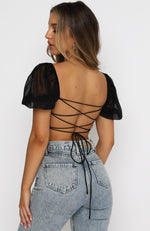 Is This Love Crop Black