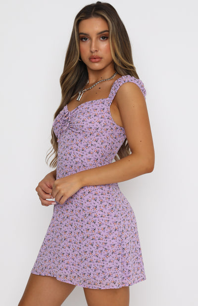 Simple Days Mini Dress Lilac Floral