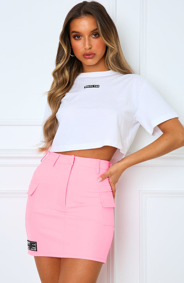 Surrender Cropped Tee White