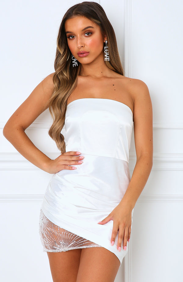 Midnight Kiss Mini Dress White