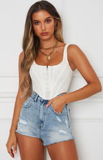 Bad Gal Bustier White