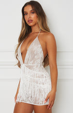 Woman Like Me Mini Dress White