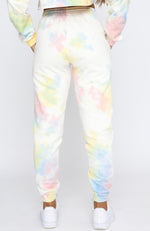 Backstage Antics Sweatpants Rainbow Tie Dye