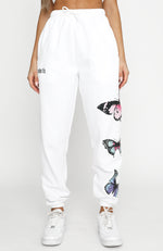 Social Butterfly Sweatpants White