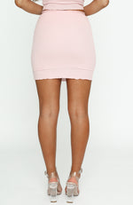State Of Mind Mini Skirt Dusty Pink