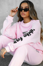 On The Road Oversized Sweater Pink
