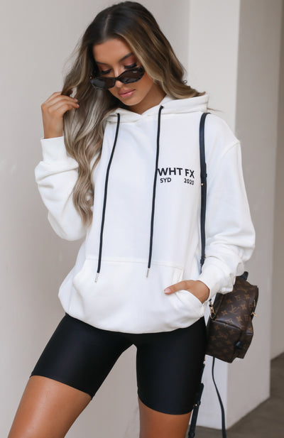 Double Or Nothing Hoodie White