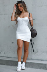 Dream Scene Mini Dress White