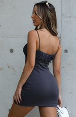 Dream Scene Mini Dress Charcoal