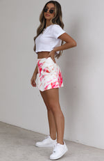 Ellery Mini Skirt Pink Tie Dye