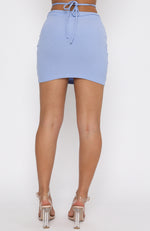 Let It Go Mini Skirt Blue