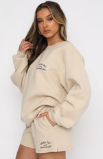Essentials Club Oversized Sweater Sand