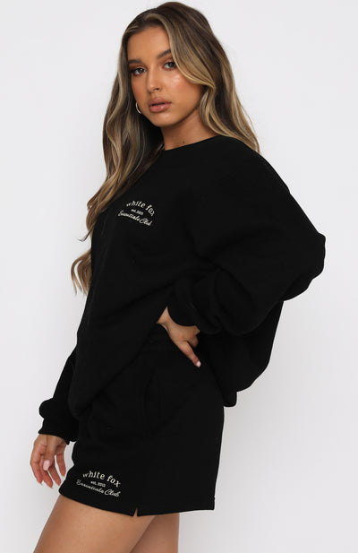 Essentials Club Oversized Sweater Black