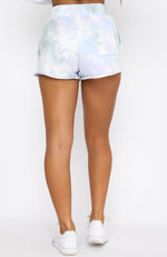 Take Note Lounge Shorts Stormy Tie Dye