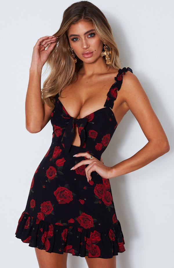 Feelin' Fine Dress Russian Rose Black