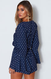Dream Of Me Playsuit Spot On Navy