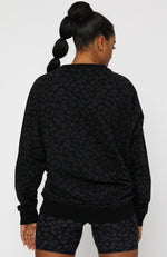 Team Camo Oversized Sweater Midnight Camo