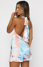 Beauty Moment Mini Dress Blue Tie Dye