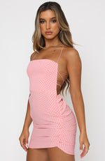 Heart's Content Mini Dress Pink Polka Dot